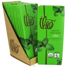 Theo Chocolate - Classic Collection Organic Dark Chocolate 70% Cacao Mint - 3 oz.