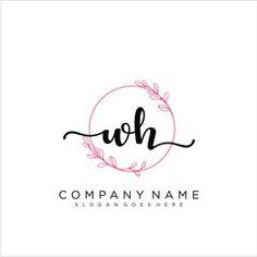Handwritten Logo, Elegant Logo Design, Presentation Design Template, Initials Logo, Handwriting, Monogram, Templates, Lettering, Vectors
