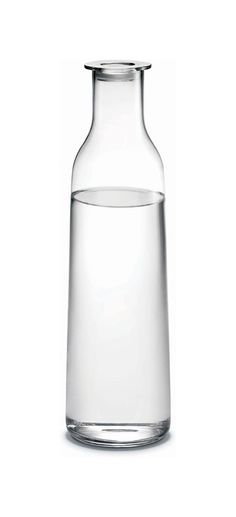 """Holmegaard Minima Bottle Clear (47.3 oz.) $47.95 Designer: Cecilie Manz Brand: Holmegaard Item #: HG4330403x Dimensions: 12.7"""" H x 3.5"""" Dia., 47.3 oz. Volume ( 32.3 CM H x 4.3 CM Dia., 140 Cl Volume ) Material: Glass Gift Box: Holmegaard Gift Boxed Care: Dishwasher Safe Minima is Holmegaard's answer to what a delicate everyday storage solution can look like when treated with integrity. Functionality and aesthetics for everyday enjoyment."""