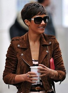 Frankie Sandford...in love with the hair, glasses, etc