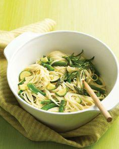 Spring Pasta Recipes // Linguine with Spring Vegetables Recipe