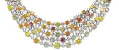 Rare Fancy Color Diamonds Debut at The Natural History Museum in LA: Rainbow Necklace Featuring 35.93 carats of 100 rare and natural  Multi-Colored Diamonds