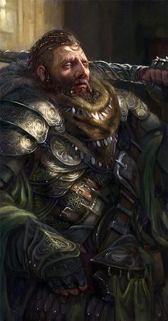 Brutal dwarf #dwarf #rpg  | also see 3D art at www.freecomputerdesktopwallpaper.com/w3d.shtml