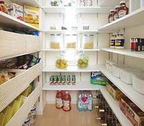 キッチンワークを助けるゆとりの収納 Pantry, Bookcase, Shelves, Cleaning, Kitchen, Home Decor, Purses, Pantry Room, Butler Pantry