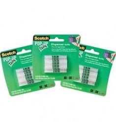 3M Scotch Pop Up Tape Dispenser Refills 3 Refills total 225 Strips SAMEDAY POST