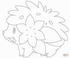 Shaymin Coloring Pages Pokemon Coloring