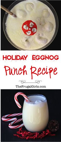 Egg Nog Punch Recipe from TheFrugalGirls.com