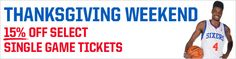 Sixers Thanksgiving Weekend Deal