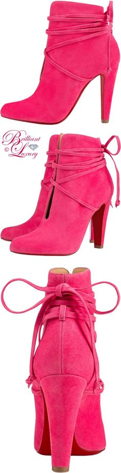 Brilliant Luxury ♦ Christian Louboutin S.I.T. Darling Suede Pump #pink