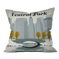 DENY Designs // Anderson Design Group Central Park Snow Throw Pillow