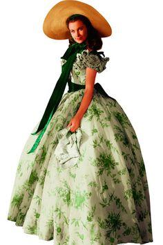 """Vivien Leigh en """"Lo que el viento se llevó"""" #celebrities #cine #vestidosdecine"""
