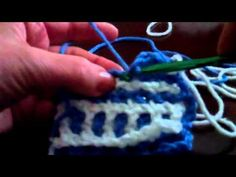 Step 4: Instructions for dcif or Front Stitch. Description of how to crochet an Interlocking Crochet™ Front Stitch or dcif, one of the main stitches used to create a reversible fabric. Single-side designs have the same design on each side.