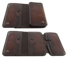 Items similar to ITALIAN - iPhone - Leather Wallet. Carefully handmade in Italy. Leather Wallet Pattern, Handmade Leather Wallet, Leather Gifts, Leather Craft, Leather Dye, Leather Tooling, Denim Armband, Iphone 5s, Diy Wallet