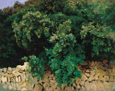 John Singer Sargent - Ilex Wood. Majorca. 1908, oil on canvas, 57 x 71 cm.