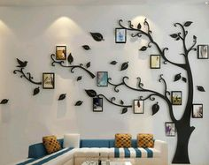 Family tree wall decal with frames.