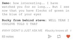 I felt creeped out for Bucky and protective like what the heck Zemo, Steve and I are coming for you, don't touch, look, listen or even breathe Bucky