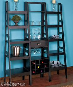 this would be great in a kitchen for wine, cookbooks, and other fun decor!