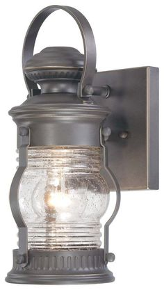 "View the The Great Outdoors 72231-143C 1 Light 11.5"" Height Outdoor Wall Sconce from the Lynnfield Collection at LightingDirect.com."
