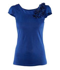 H&M jersey figure-fit top (blue)