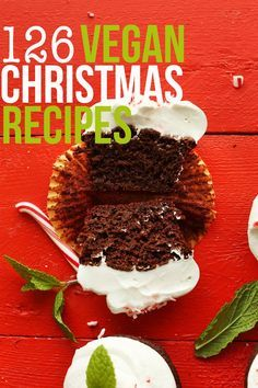 A roundup of 126 vegan Christmas recipes, from breakfast to sides to entrees and desserts!