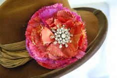 fabric corsage- made with recycled fabric  upcycled brooches:: crafttestdummies.com