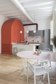 modern color blocked