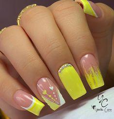 Beauty Nails, Hair Beauty, Bling Acrylic Nails, Short Nails, Erika, Nail Colors, Nail Designs, Glitter, Ballerina Nails