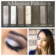 Cool tone cut crease using Younique Addiction 2 Palette. With cool tones of grey, brown and silver this is the perfect palette for a smoky eye! $49 each or get all 3 Addiction palettes for $130!