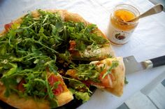Pizza with Fig, Arugula and Goat Cheese and Prosciutto - Savory with a Touch of Sweet | Just Jan's
