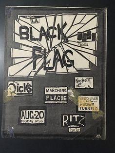 Original 1980's Black Flag Dicks Marching Plague flyer Ritz Austin PUNK