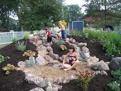 How to add sand to your child's outdoor space...LUV this!!!
