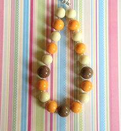 Chunky Bubblegum Necklace Peanut Butter  Gumball by YummyBaubles