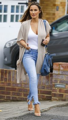 Model mum:Mother-of-one Sam, 26, looked breathtaking in a casually glamorous ensemble of ...