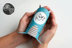 Monstruo de las emociones: imprimible + DIY con rollo de cartón // Emotion Monster DIY and printable