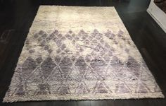 """""""Purple Rain"""" 9'x12' Stunning Moroccan Azilal Hand Knotted Natural Wool Rug"""