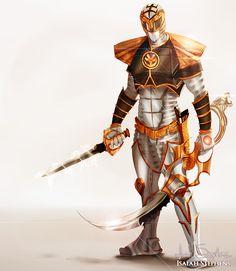 White Ranger, Power Rangers artwork by Isaiah Stephens.