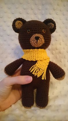 Crochet teddy bear by CrochetAga on Etsy