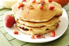 "Strawberry and Bacon Pancakes- California Strawberries ""In the Kitchen"" Blog"