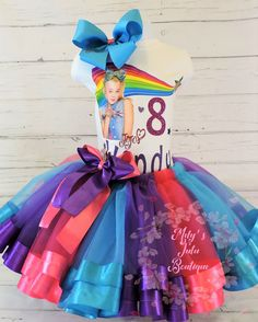 Trolls Poppy *With NAME* 3rd third 3 Birthday Purple Tutu dress Fast Shipping