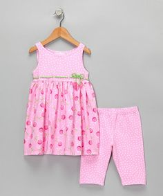 Take a look at this Sweet Potatoes Pink Tunic & Leggings - Infant, Toddler & Girls by Sweet Potatoes on #zulily today!
