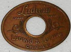 1920 Ludwig and Ludwig badge