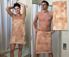 Now you can censor your own body in a pixelated fashion just like on cable television movies with the censorship towel. This unique towel is guaranteed to turn heads if you wear it in a public place such as the beach, tricking people into thinking they are seeing in 8-bit.