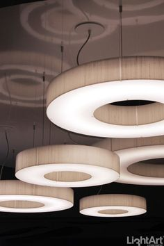 Customizable light creates a glowing halo in any size and color combination needed | Zero by Lightart 3Form, ICFF2013
