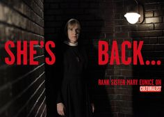 Lily Rabe returns as Sister Mary Eunice!