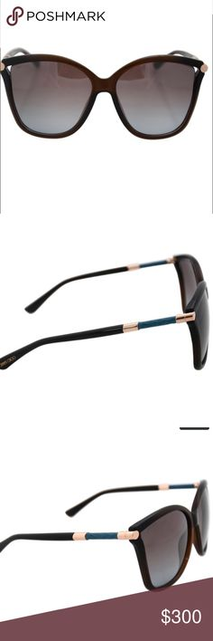 Jimmy Choo Tatti Sunglasses Brand new! Jimmy Choo Tatti/S 8J9TF is a full rim frame for women. This sunglasses features with brown/grey lenses and UV protected. Which is made for plastic. The JIMMY CHOO logo is displayed on the temple. Jimmy Choo Accessories Sunglasses