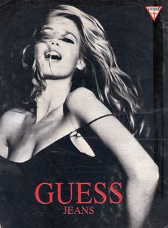 Guess Jeans Año 1989 Claudia Schiffer