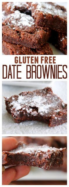 Gluten Free Date Brownies pinterest