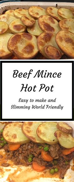 Mince Hot Pot Beef Mince Hot Pot recipe- easy to make dinner recipe and great comfort food. This recipe is Slimming World Friendly.Beef Mince Hot Pot recipe- easy to make dinner recipe and great comfort food. This recipe is Slimming World Friendly. Slimming World Dinners, Slimming World Recipes Syn Free, Slimming World Minced Beef Recipes, Minced Beef Recipes Easy, Slimming World Lunch Ideas, Slimming Eats, Meat Recipes, Slow Cooker Recipes, Cooking Recipes