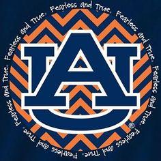 Auburn Tigers Football T Shirts Chevron Pattern Auburn Logo Color ...