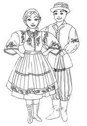 Kolorowanka Zespołu Folklorystycznego Wielkopolanie Princess Zelda, Disney Princess, Book Pages, Poland, Coloring Pages, Disney Characters, Fictional Characters, Costumes, Traditional
